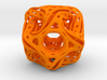 Ported looped drilled  cube pendant 3d printed