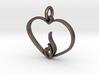 Embracing Intensity Pendant - metal 3d printed