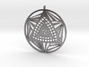 Crop circle pendant 7 3d printed