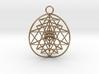 "3D Sri Yantra 3 Sided Optimal Pendant 1.5"" 3d printed"