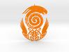 Maori snake bird tattoo Pendant 3d printed