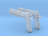 """1/3rd Scale """"Black & White"""" Pistols 3d printed"""