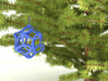 Cancer Ribbon Christmas Tree Ornament 3d printed Blue Shown