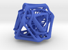 Ported looped Tetrahedron Plastic 5.6x4.8x5.3 cm  3d printed