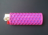 BIC Sleeve Honey 3d printed honeycomb sleeve with purple lighter