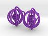 Cages - Pair of Earrings 3d printed