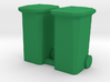 Garbage Cans Square Wheeled 3d printed