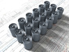 1/350 Royal Navy MKVII Depth Charges x18 3d printed 1/350 Royal Navy MKVII Depth Charges x18