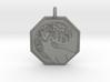 Stag - The Horned God Octagon Pendant 3d printed