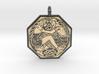 Divine Couple Celtic Octagon Pendant 3d printed