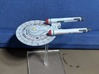 3788 Scale Federation New Light Cruiser (NCL) WEM 3d printed Ship (Smooth Fine Detail Plastic) painted by a fan. Stand not included.