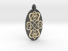 Heart - Oval Pendant 3d printed