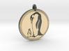 Emperor Penguin Animal Totem Pendant 3d printed
