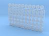 10x (Smaller) Circle Numerals 1-6 : Shoulder Insig 3d printed