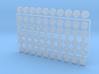 10x (smaller) Circle Numbers 1-6 : Shoulder Insign 3d printed