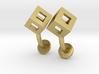 Cube cufflinks 3d printed