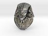 """Alien Gray Egyptian Pharaoh Head Pendant 1.5"""" 38mm 3d printed"""