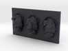 Bulldog Triptych-Faced Caricature (001) 3d printed