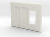 Philips Hue Double Dimmer Plate 3 Gang Decora 3d printed