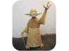 YoGandhi 3 (non-posable) 3d printed Photo of the original wood carving.