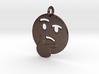 Thinker Emoji Pendant - Metal 3d printed