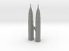Petronas Towers - Kuala Lumpur (3 inch) 3d printed