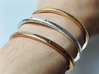 Plus Cuff (large) 3d printed Top to bottom: Brass, Silver, Bronze