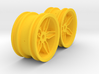 M-Chassis Wheels - Coffin Spokes - +0mm Offset 3d printed