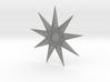 Nine-pointed Star Brooch 3d printed