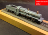 GWR Saint class locomotive, 2mm FS 3d printed 3D print (+ tender) with additional scratch-built details