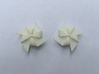 Pinwheel Earrings | Kinetic 3d printed White