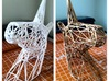 Wire Unicorn Head Statue: 6 Inch 3d printed White Strong & Flexible spray painted metallic gold