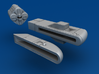 Missile Frigate Multi-Part Kit 3d printed Hollowed Pieces