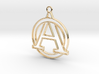 Initial A & circle intertwined 3d printed