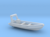 RHIB with beam and outboard engine (1:200) 3d printed render of RHIB