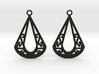 Calyson earrings 3d printed