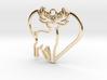 Deer & heart intertwined Pendant 3d printed