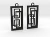 Geometrical earrings no.2 3d printed