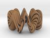 wood grain wiggly torus 3d printed