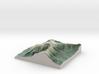 """Mount Washington Map: 6"""" 3d printed"""
