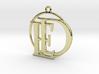Initials D&E and circle monogram 3d printed