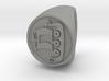 Custom signet ring 56 Size 18.5 3d printed