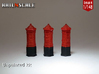 SET 3x Penfold Pillar box (British N 1:148) 3d printed