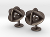 Orbit Cufflinks 3d printed