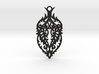 Thorn pendant 3d printed