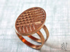 Two Stripe Ring 3d printed Two Bands with Flat Stripes