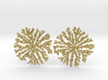 SNOWFLAKE Brass Silver Earrings 3d printed
