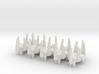 10 Xel fighters 3d printed