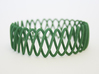 Spring Bracelet 3d printed in Green Strong and Flexible