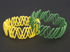 Spring Bracelet 3d printed Yellow Strong and Flexible and Green Strong and Flexible